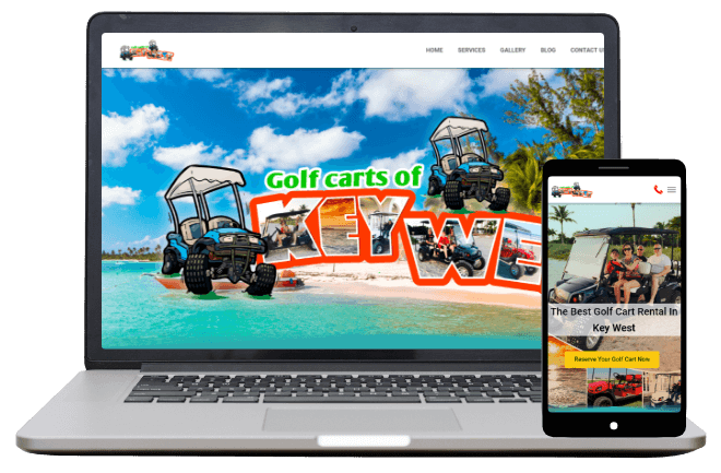 Golf Cars of Key West - Website Client