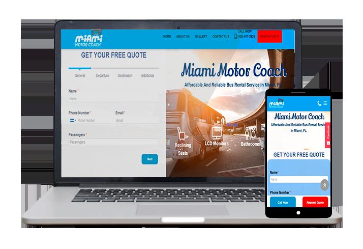 Miami Motor Coach - Website Client