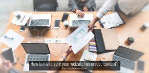 How to make sure your website has unique content?